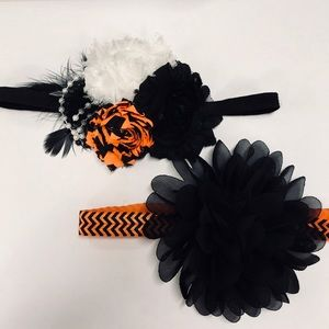 Other - Baby girl headband bundle halloween